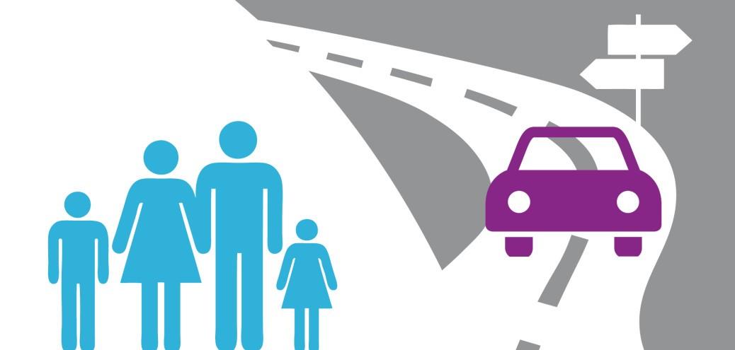 Family standing near car | Ontario Auto Reforms 2016