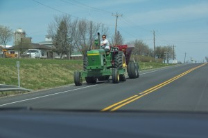 John-Deer-Tractor-on-Road