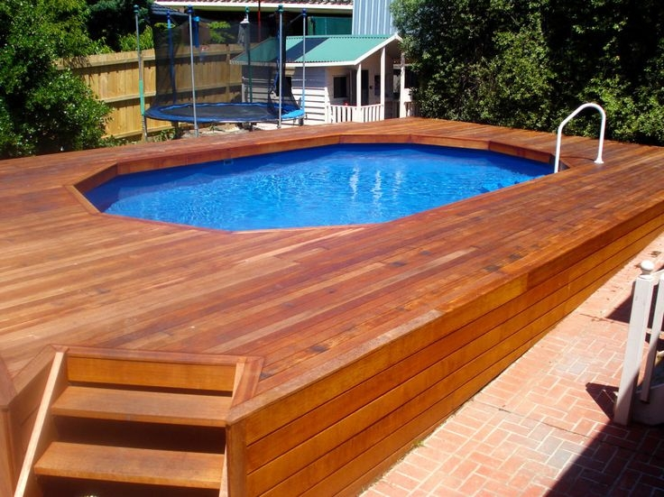 44 Best Above Ground Pool Ideas Images On Pinterest Ground Pools Beautiful Pool Deck Color Ideas - flipiy.com